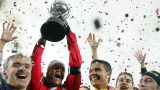 Pachuca celebrando la obtención de la Copa Sudamericana