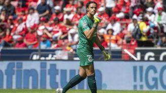 José Antonio Rodríguez festeja un gol de Chivas