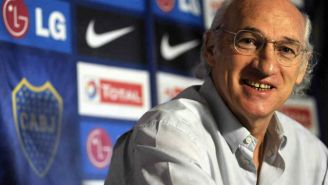 Bianchi enuna conferencia del Boca Juniors