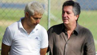 Bofo charla con Vergara tras una sesión en Verde Valle