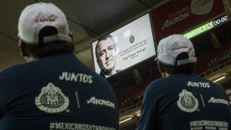 La imagen de Jorge Vergara en el Estadio Akron