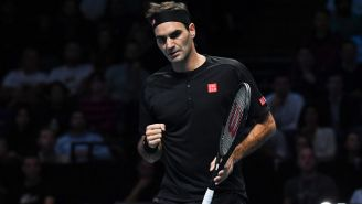 Roger Federer durante un torneo en Londres