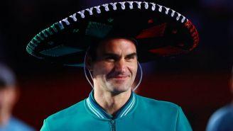 Roger Federer tras su partido en la CDMX