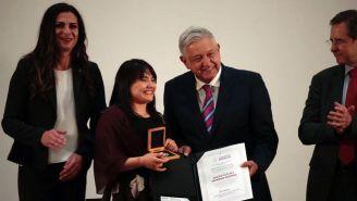 Alexa Moreno y Andrés Manuel López Obrador