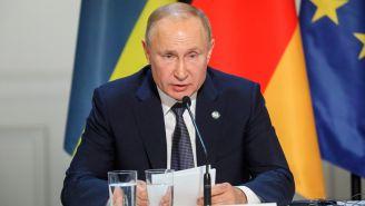 Vladimir Putin en una conferencia de prensa