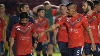 Jugadores de Veracruz al final del partido ante Tigres