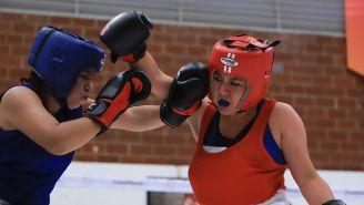 Una de las eliminatorias de boxeo