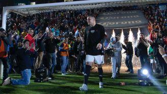 Christian Giménez en su partido de despedida