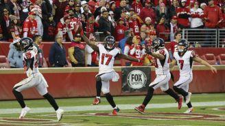 Falcons festeja anotación contra 49ers