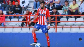 Laso, en un partido del Atlético San Luis