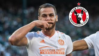 Leandro González Pirez celebra un gol con el Atlanta United