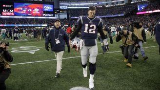 Tom Brady al terminar un partido de los Patriots