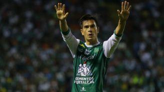 Ignacio González agradeciendo a la afición de León