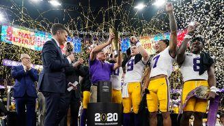 LSU levanta el trofeo que lo acredita como Campeón