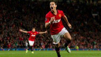 Javier Hernández, en su etapa con el Manchester United