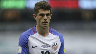 Christian Pulisic en acción con la selección de Estados Unidos