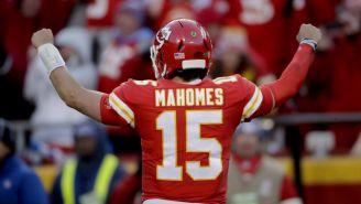 Patrick Mahomes celebrando un touchdown