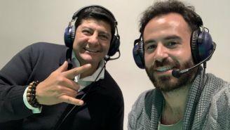 Carlos Aguilar junto a Marc Crosas