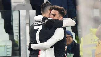 Cristiano y Dybala festejan gol