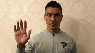 Paolo Goltz, con la vestimenta de Boca Juniors