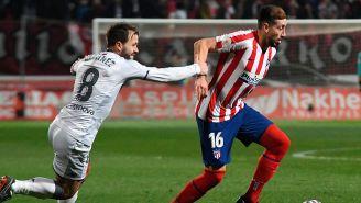 Héctor Herrera frente a  Antonio Martínez en Copa del Rey