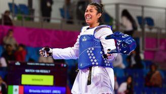 Briseida Acosta en un combate de Juegos Panamericanos