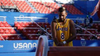 Nick Kyrgios con el jersey de Kobe en Acapulco