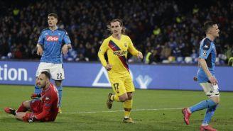 Antoine Griezmann celebrando su anotación con Barcelona