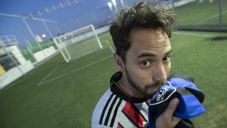 Zared Orozco en cancha de futbol
