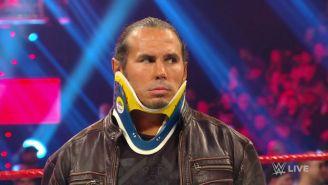 Matt Hardy en su última participación en Monday Night Raw