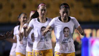 Tigres Femenil mostró su apoyo a Nayelli Rangel