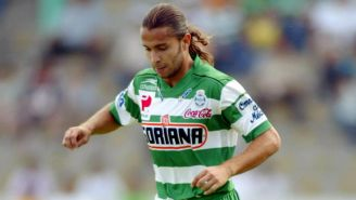 Juan Diego González en partido con Santos