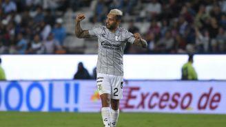Velázquez celebra el empate de último minuto ante Pachuca