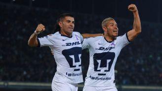 Barrera y Malcorra durante un festejo de gol