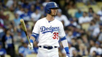 Cody Bellinger en juego contra los Padres de San Diego