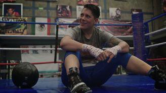 Tigre Jiménez, durante un entrenamiento