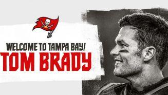 Imagen con la que Buccaneers dio la bienvenida a Tom Brady