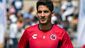 Ángel Reyna en partido con Veracruz
