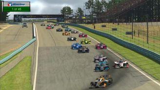 Imagen un video que distribuyó iRacing IndyCar