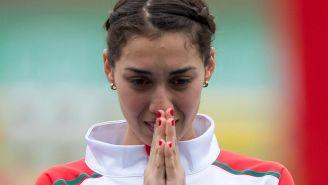 Mariana Arce antes de una competición