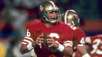 Montana, en un juego con los 49ers