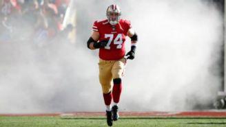 Joe Staley en acción con los San Francisco 49ers