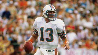 Dan Marino durante un juego de los Miami Dolphins