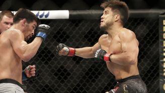 Henry Cejudo en la pelea contra Dominick Cruz