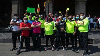 Árbitros de futbol amateur en manifestación