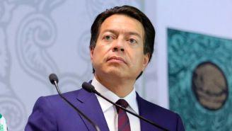 Mario Delgado, en conferencia de prensa