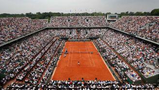 Cancha principal de Roland Garros con un lleno en 2019