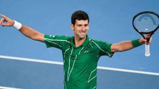 Novak Djokovic durante un torneo