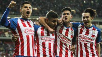Elementos del Rebaño durante un duelo en Liga MX