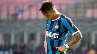 Lautaro Martínez en lamento con Inter de Milan
